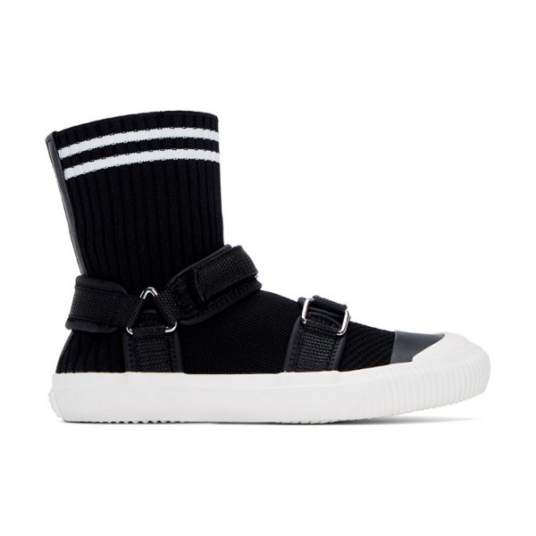 Ys black sock sneakers in 3 black