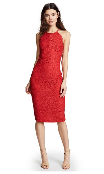 Yumi Kim save the date dress in red