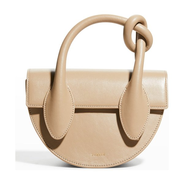 Yuzefi Dolores Knot-Handle Half-Moon Bag in mouton