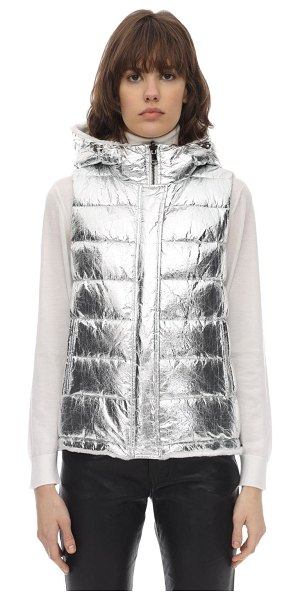 Yves Salomon Reversible metallic & fur vest in silver