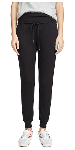 Z Supply the folded band joggers in black