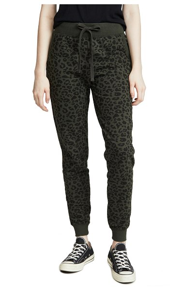 Z Supply the leopard joggers in rosin