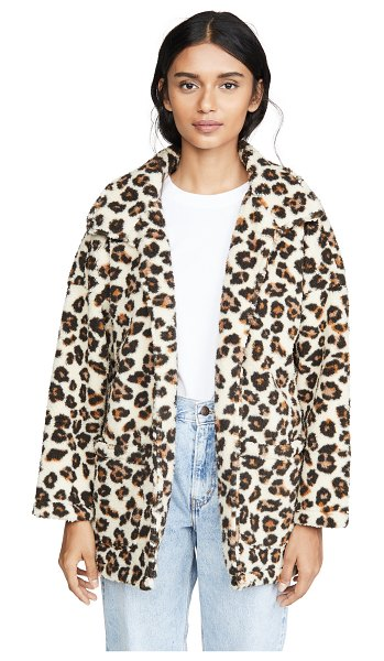 Z Supply the leopard sherpa coat in natural