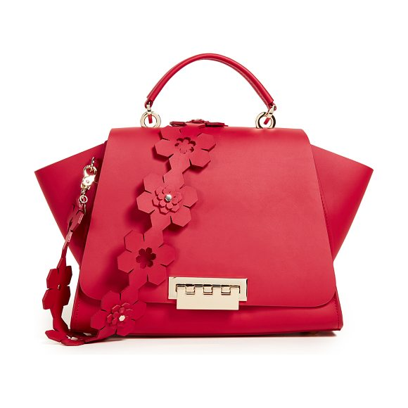 Zac Zac Posen Eartha Iconic Soft Top Handle Bag In Red