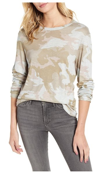 Zadig & Voltaire willy camouflage linen tee in poudre