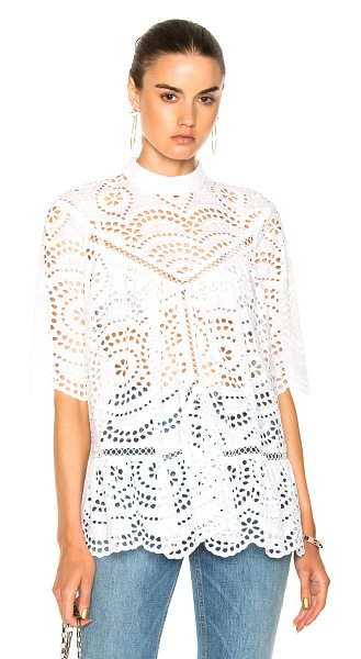 ZIMMERMANN for FWRD Paradiso Broderie Paneled Smock Top - Self & Lining: 100% cotton.  Made in China.  Hand wash. ...