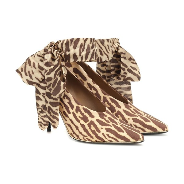 Zimmermann leopard stretch-knit pumps in brown