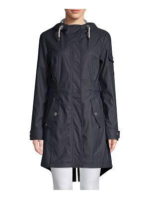 1 Madison Drawstring Hooded Rain Jacket