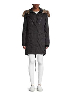 1 Madison Faux Fur-Accented Hooded Coat