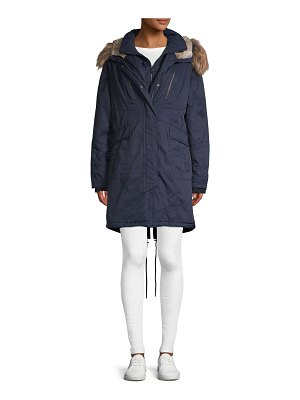 1 Madison Faux Fur-Trimmed Hooded Coat