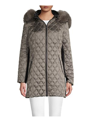1 Madison Fox Fur-Trimmed Puffer Jacket