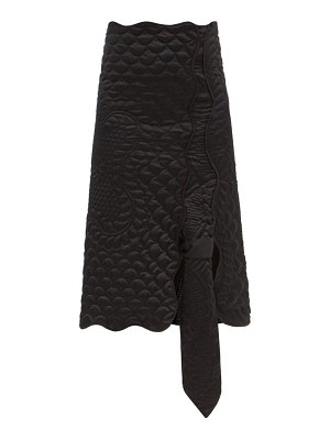 1 MONCLER JW ANDERSON asymmetric down quilted shell skirt