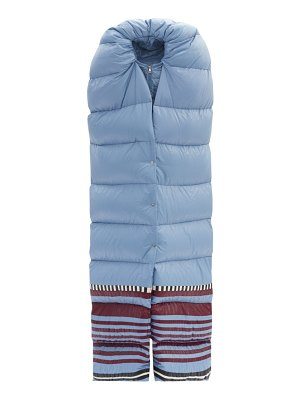 1 Moncler Pierpaolo Piccioli adelaide striped-hem padded-scarf jacket