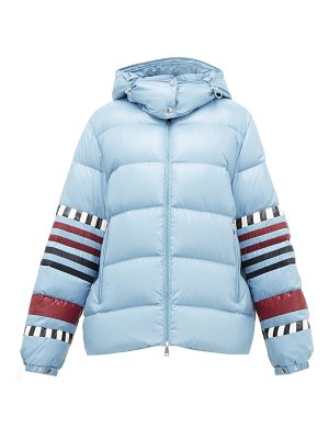 1 Moncler Pierpaolo Piccioli anna striped down-filled jacket