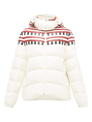 1 Moncler Pierpaolo Piccioli evelyn colour-block down-filled hooded jacket