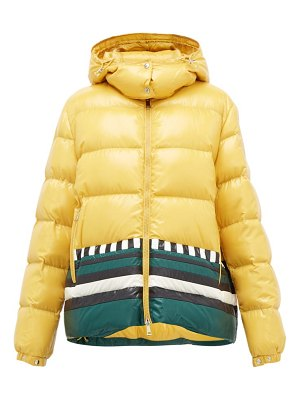 1 Moncler Pierpaolo Piccioli gabrielle striped down-filled jacket