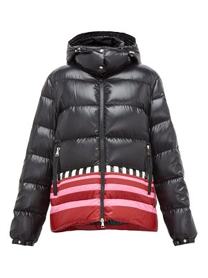 1 Moncler Pierpaolo Piccioli gabrielle striped-hem padded hooded jacket
