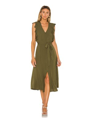 1. STATE button front crosshatch midi dress