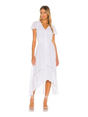 1. STATE button front hi low dress