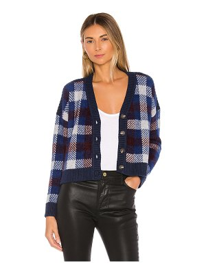 1. STATE button front plaid eyelash cropped cardigan