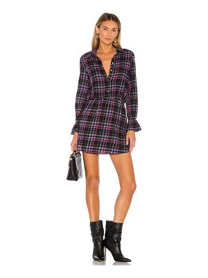1. STATE button up plaid dress