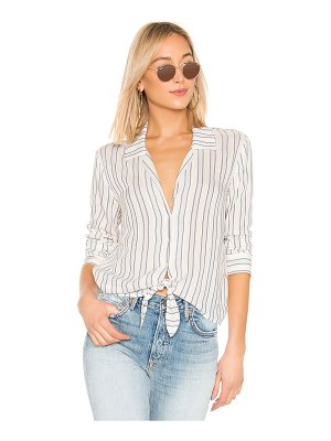 1. STATE Buttondown Tie Front Blouse