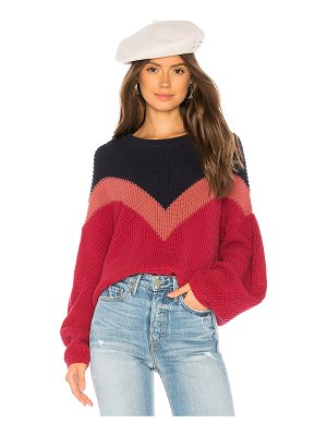 1. STATE Chevron Front Sweater