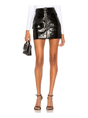 1. STATE Crackle Patent Leather Skirt