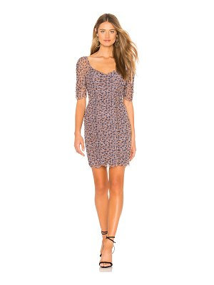 1. STATE Ditsy Drift Ruched Dress