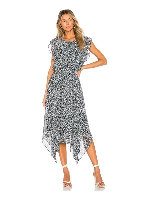 1. STATE flounce ruffle cascading calico dress