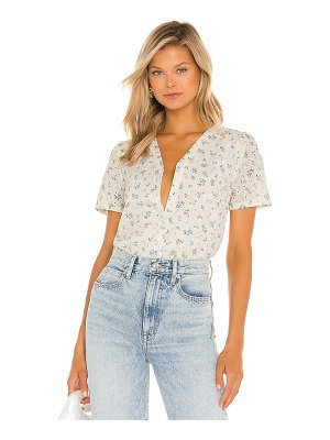 1. STATE front button puff sleeve blouse