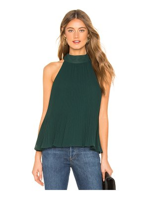 1. STATE Halter Tie Pleated Blouse