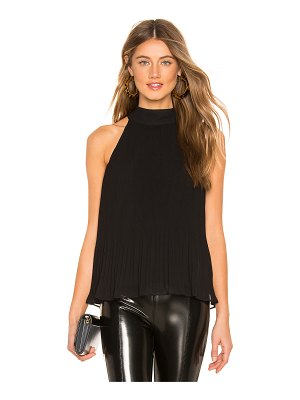 1. STATE Halter Tie Pleated Top