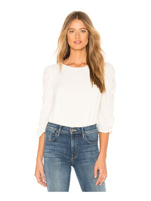 1. STATE Long Sleeve Ruched Sleeve Blouse