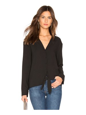 1. STATE Long Sleeve Tie Front Top