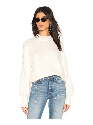 1. STATE Mixed Cable Knit Sweater