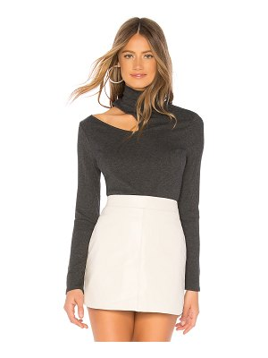 1. STATE Mock Neck Rib Top