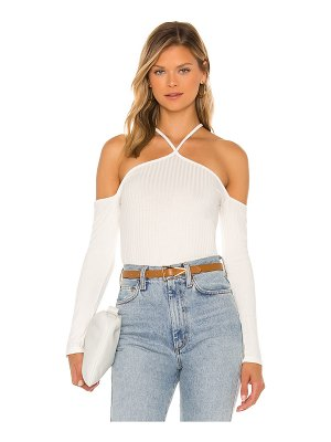 1. STATE off the shoulder cross front top