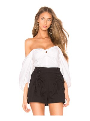 1. STATE Puff Sleeve Crop Top
