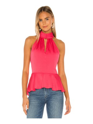 1. STATE smocked neck rumple hammered blouse
