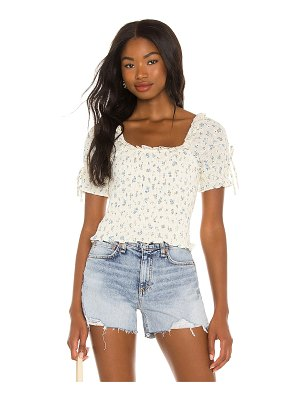1. STATE smocked puff sleeve top