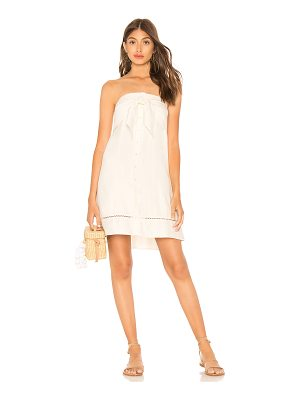 1. STATE Strapless Tie Front Button Down Dress
