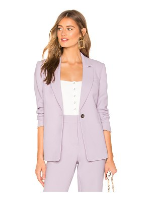 1. STATE Textured Crepe One Button Blazer