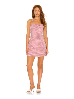 1. STATE tie front dress