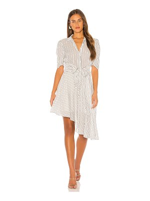 1. STATE tie front striped dress