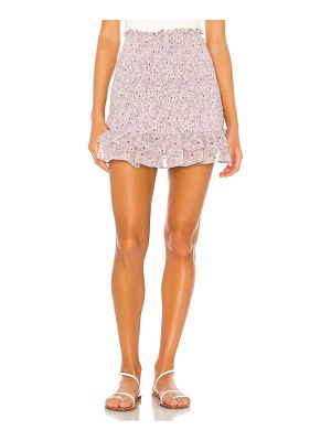 1. STATE wildflower bouquet mini skirt