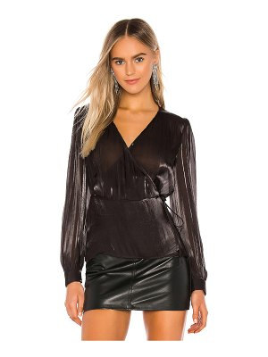 1. STATE wrap front organza blouse