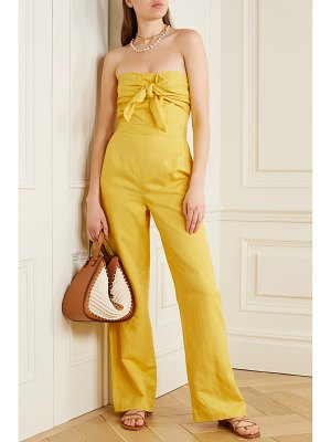 10 Crosby by Derek Lam alene strapless linen, lyocell and cotton-blend twill jumpsuit