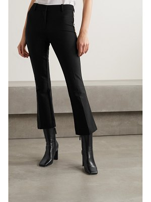 10 Crosby by Derek Lam corinna cropped striped stretch-cotton twill flared pants