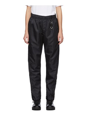 1017 ALYX 9SM black curved seam track pants